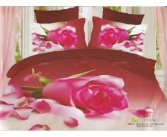 Постельное белье 3D Алая роза