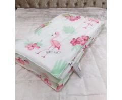 "Утепленное одеяло Кензо ""Фламинго"""