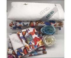Комплект постельного белья  Кензо Бабочки с одеялом
