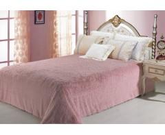 Меховой плед Розовый