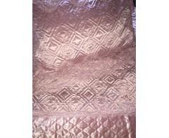 Велюровое покрывало Блюмарин нежно-розовый