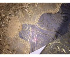 Постельное белье Etro Этро  с вышивкой и стразами