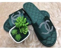 Тапочки Шанель зеленые 37-38 размер