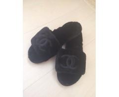 Тапочки Шанель черные 39-40 размер