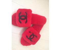 Тапочки Шанель красные 37-38 размер