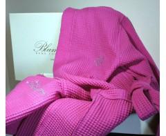 Вафельный Халат Блюмарин Blumarine ярко розовый